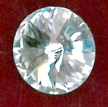 SWAROVSKI CRYSTAL BUTTON - SIZE 10 - CLEAR