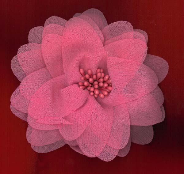 FLOWER BROOCH - CERISE