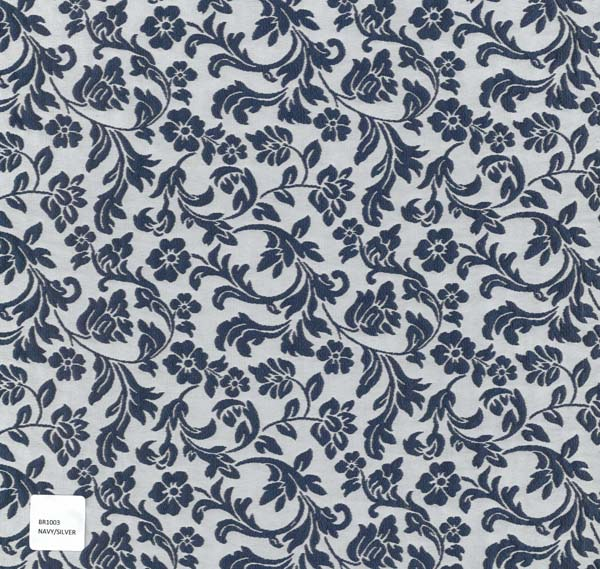 RAISED JACQUARD - NAVY/SIL