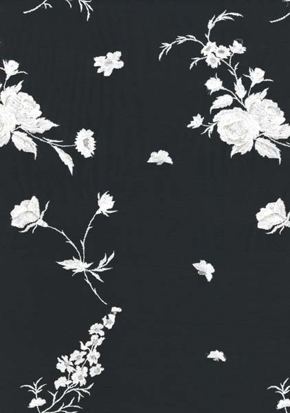 EMBROIDERED TULLE - IVORY