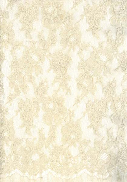 SPARKLE FRENCH LACE - 140cm BEIGE/OYSTER