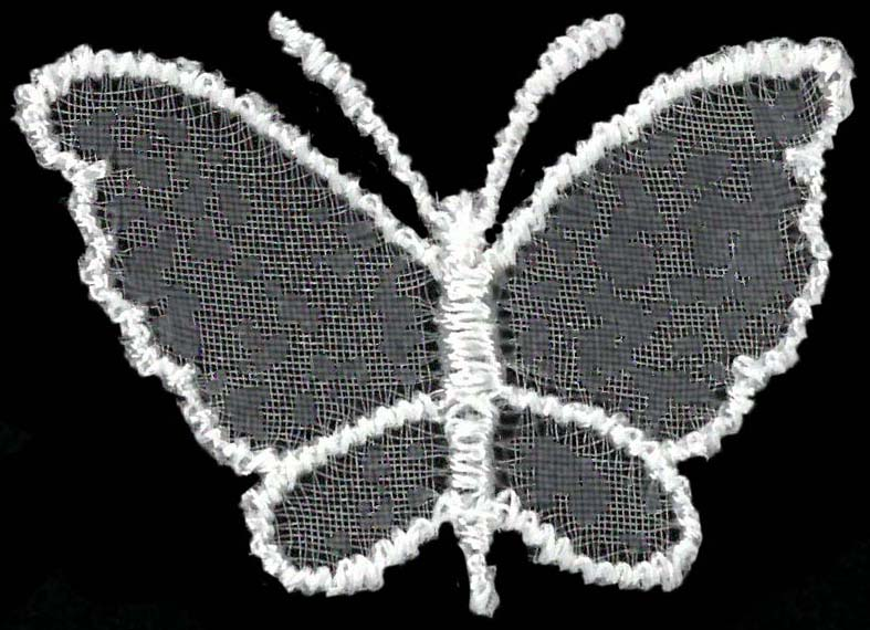 SMALL ORGANZA BUTTERFLY - IVORY