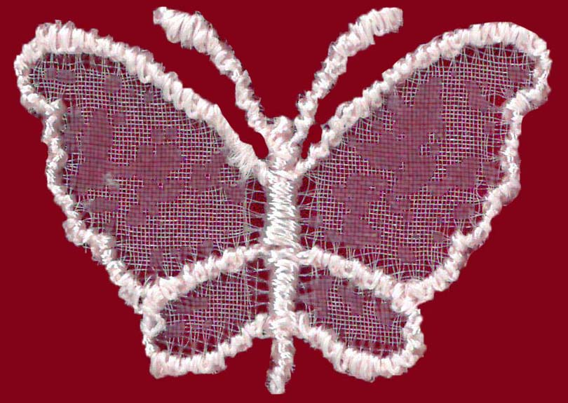 SMALL ORGANZA BUTTERFLY - LT ROSE