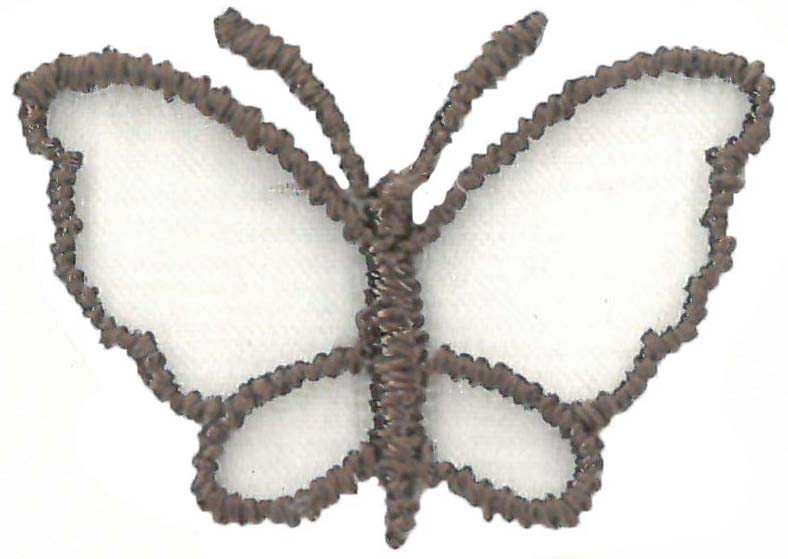 SMALL ORGANZA BUTTERFLY - MID COCOA