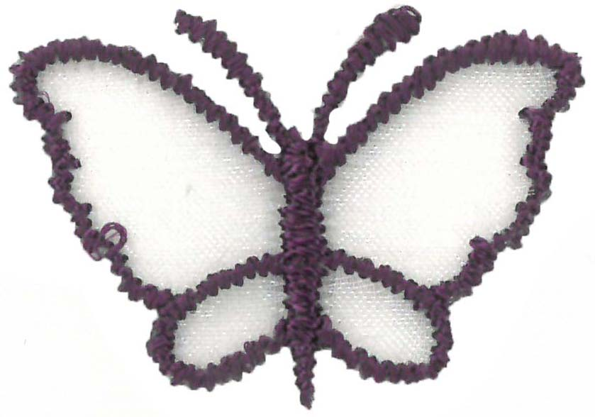 SMALL ORGANZA BUTTERFLY - PURPLE