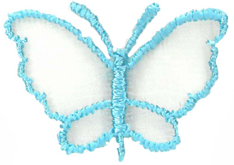 M1 SMALL ORGANZA BUTTERFLY TOPAZ