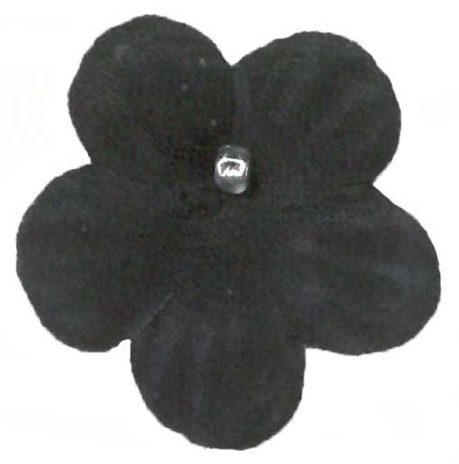 SATIN FLOWERS - BLACK
