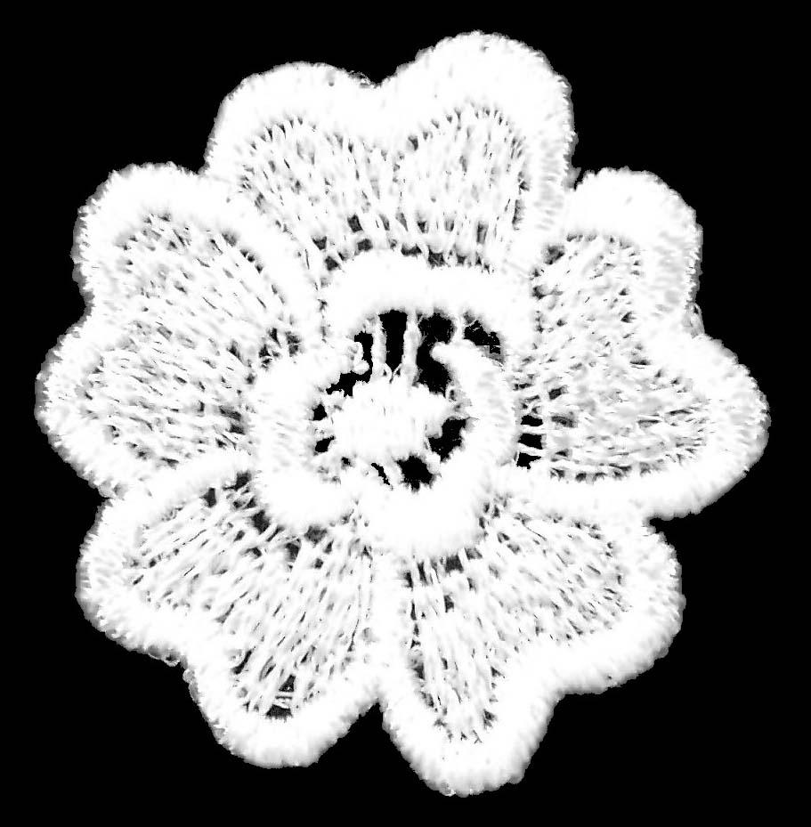 MINI MOTIF FLOWERS - IVORY