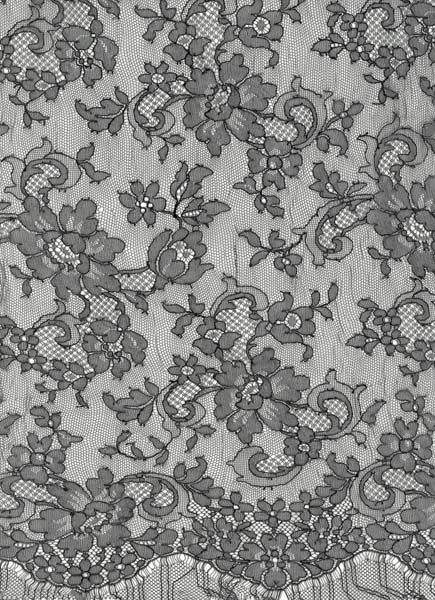 FRENCH LACQUER LACE - BLACK