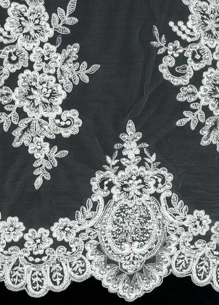 CORDED SEQUIN LACE - IVORY