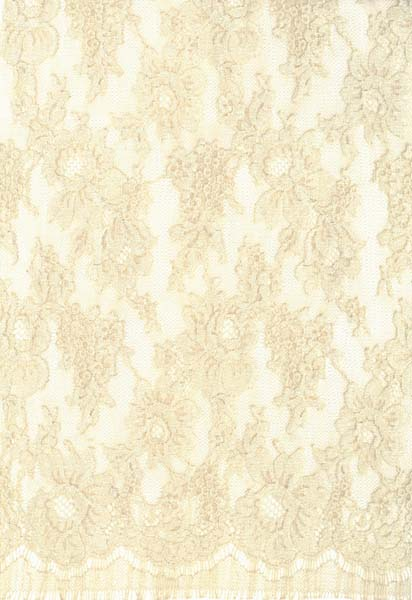 FRENCH CORDED LACE (90cm) - BEIGE/OYSTER