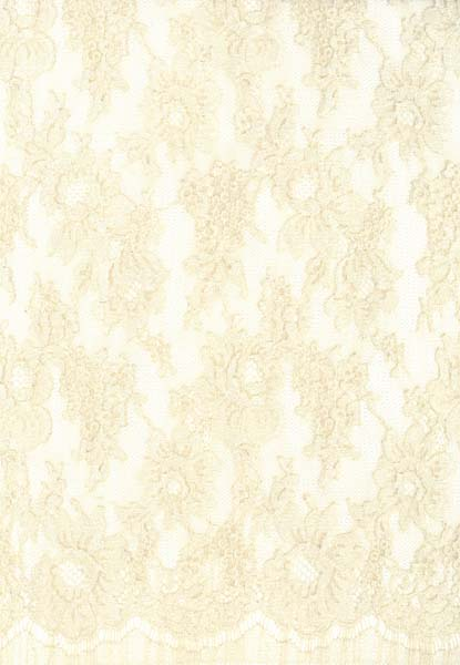 FRENCH CORDED LACE (140cm) - LIGHT BEIGE/OYSTER