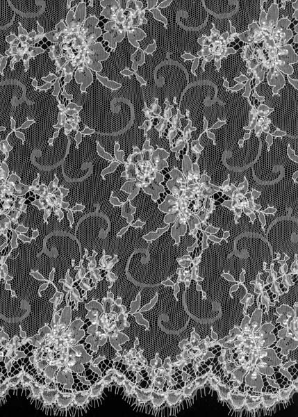 BEADED FRENCH LACE - IVORY