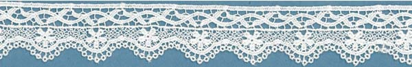 EMBROIDERED EDGING - IVORY