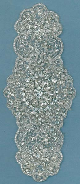 HEAVY CRYSTAL BEADED MOTIF (SOLD SINGULARLY) - IV
