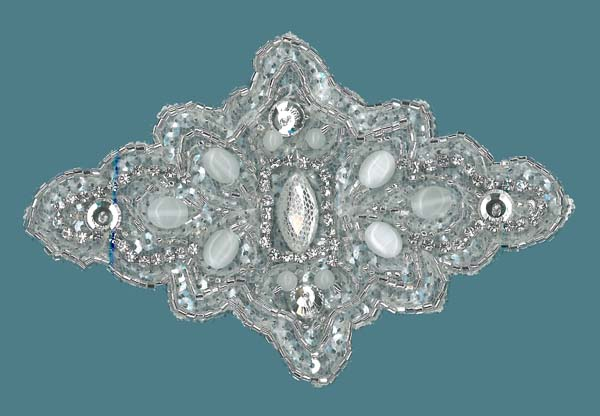 CRYSTAL BEADED MOTIF (SOLD SINGULARLY) - IV