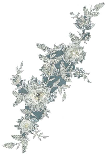 3D CRYSTAL BEADED MOTIF - IV