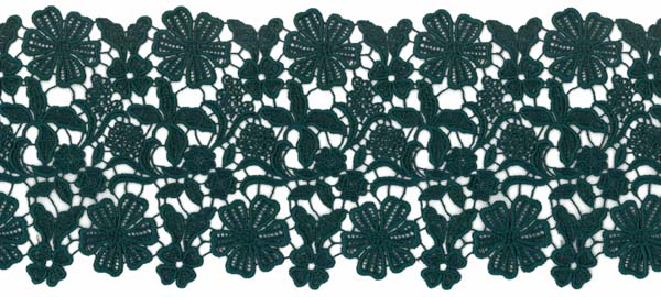 GUIPURE LACE EDGING - TEAL