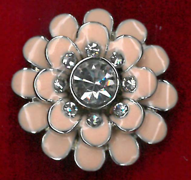BUTTON - PINK/NICKEL